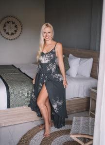 Batik Zweiteiler Kleid Batik Schwarz Sommer