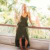 Boho Sommer Kleid Zweiteilig Olivgrün Zweiteiler Kleid (9)