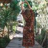 Bohemian Hippie Blumen Kleid Sommer Wickelkleid