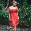 Kurzes Sommerkleid Polka Dor Rot Minikleid Lolita Kleid (2)