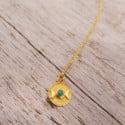 Boho Mondkette Gold Türkis (1)